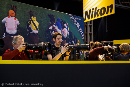 Nikon telephoto lens range on display