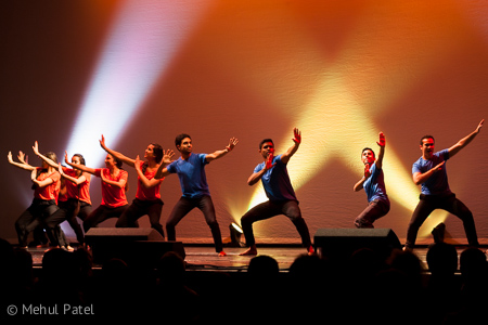 Bhangra style dancing at Mastana 2015 show - Cambridge, UK