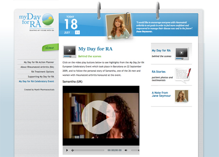 Raising awareness of rheumatoid arthritis! My Day for RA videos