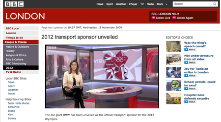 Stop the press!! 2012 Olympics transport sponsor unveiled