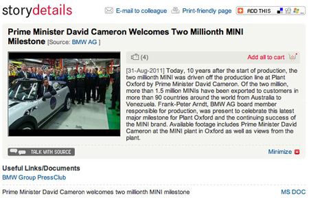 PM drives 2 millionth MINI off production line in Oxford…